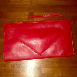 DE Mure Clutch. Red leather